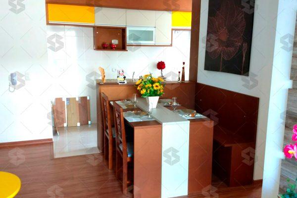 Condomínio das Figueiras Sala de jantar e cozinha