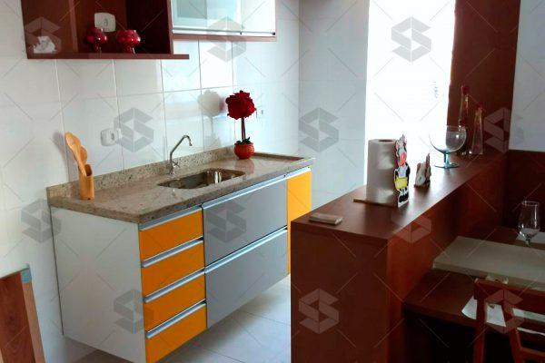 Condomínio das Figueiras Sala cozinha e area